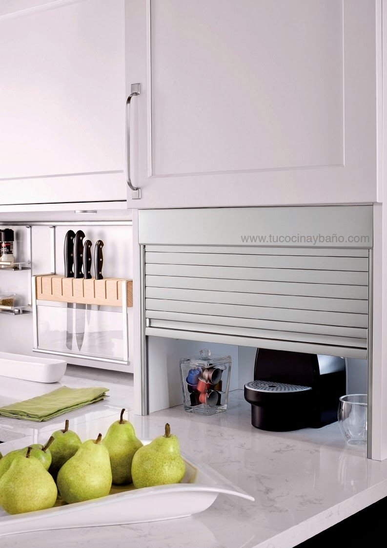 Ejemplo En Aluminio Satinado Organization And Storage Solutions  ~ Persianas Para Muebles De Cocina