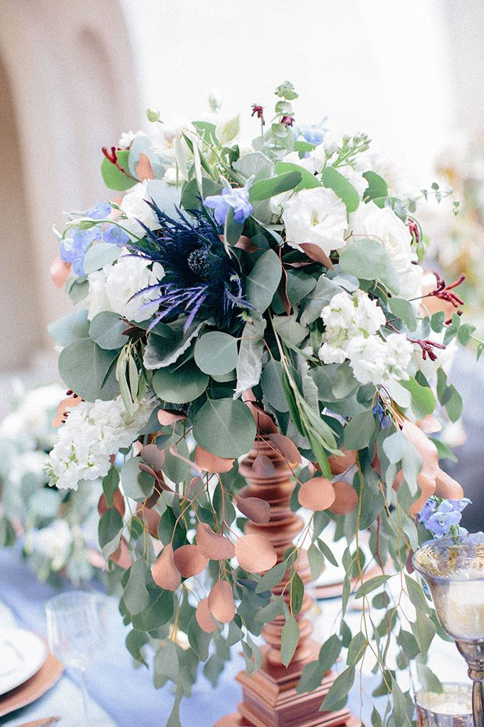 Romantic Blue And Copper Wedding Inspiration Copper Wedding