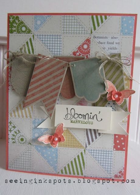 seeing ink spots hearts a flutter  hand crafted cards