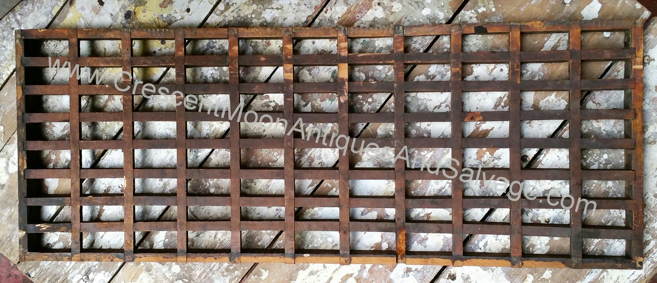 Salvage wood floor vent grate cold air return Cold air