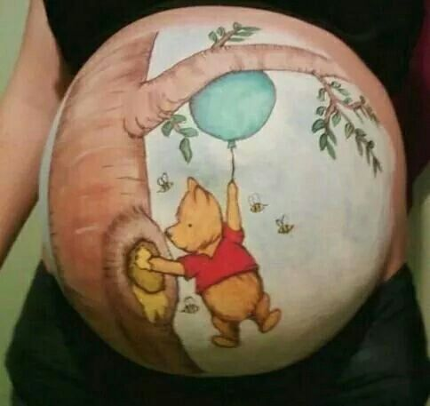 Imaginative pregnant Belly painting