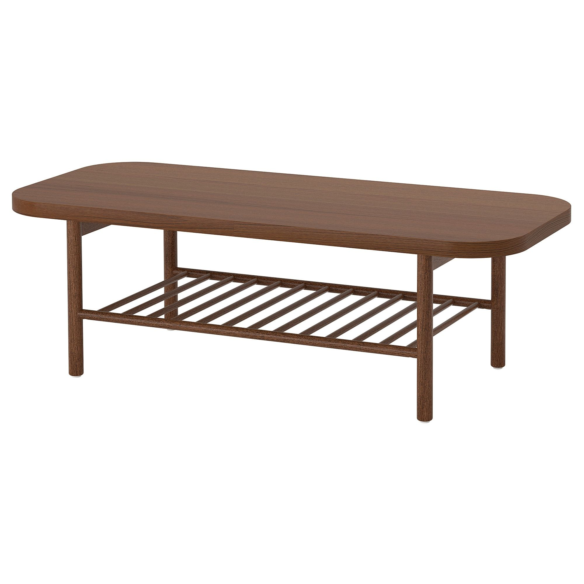 """LISTERBY Coffee table brown 55 1/8x23 5/8 """" (140x60 cm"""
