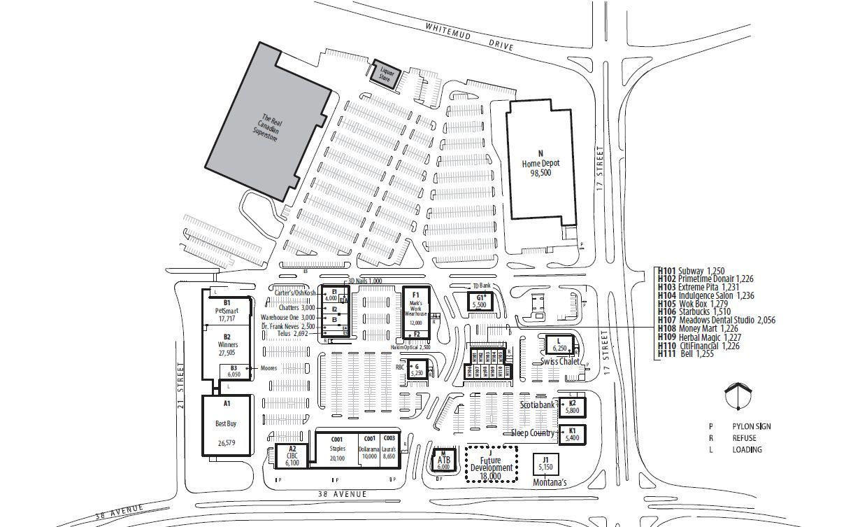 RioCan Meadows shopping plan Canada shopping, Cool