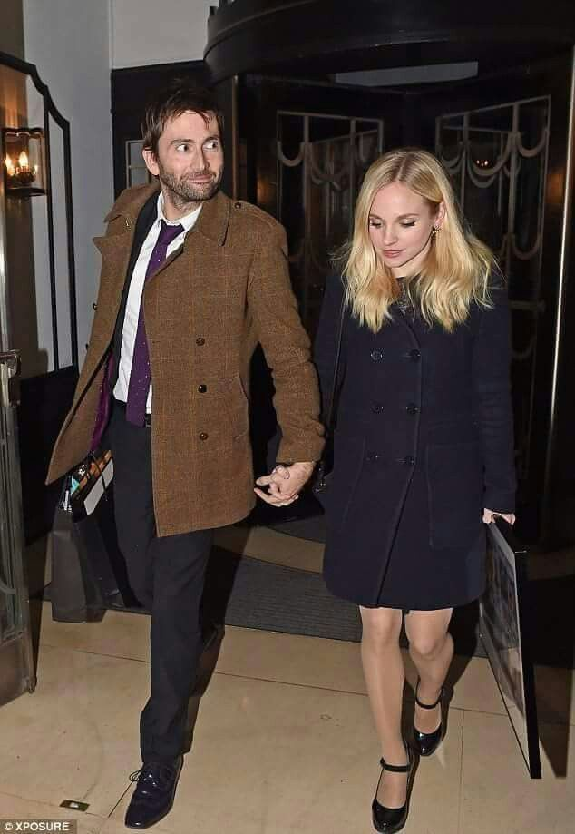 David and Georgia leaving the Radio Times Party 1/27/15