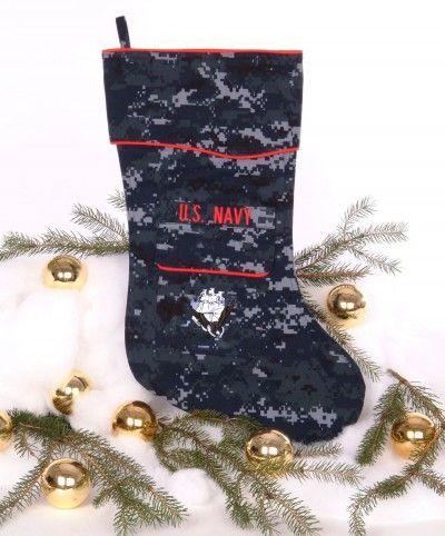 U S Navy Christmas Stocking In Nwu Fabric Military Christmas Stockings Christmas Stockings Navy Christmas Stockings