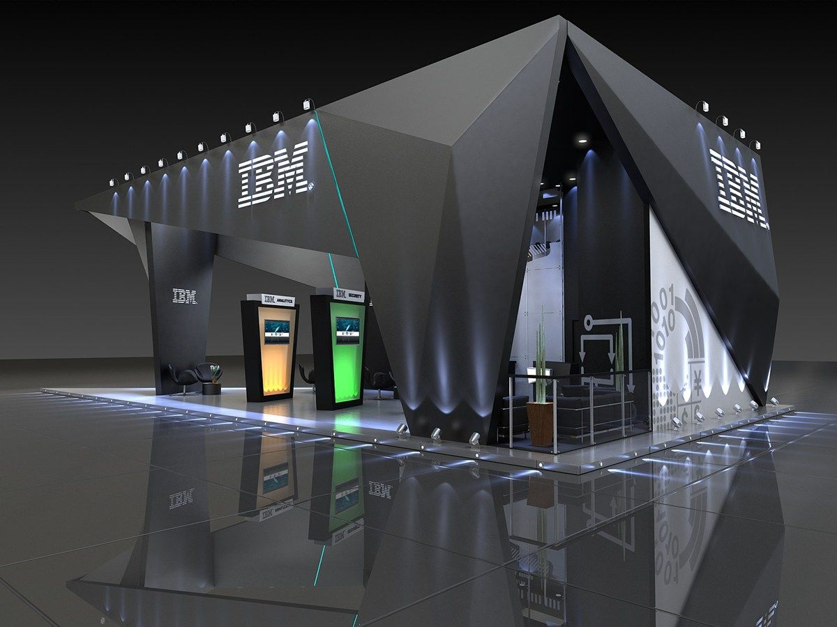Exhibition Stall Presentation : Ibm ciab on behance exibition signage 부스 디자인