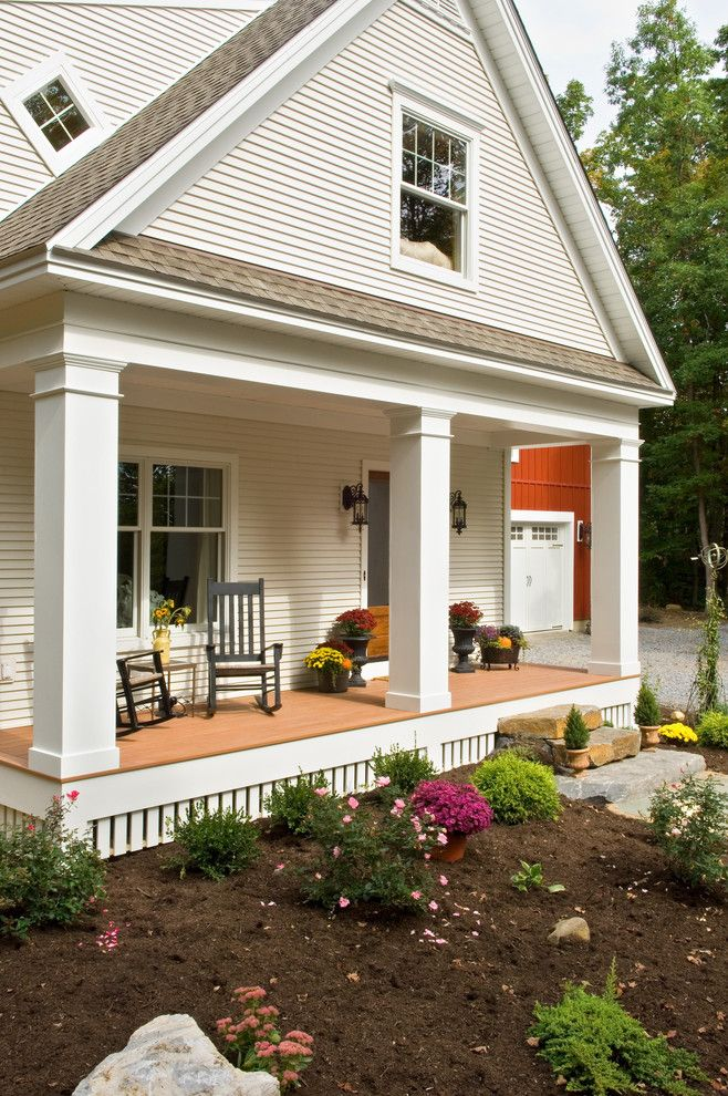 Cedar porch posts porch victorian home renovations with raised ...