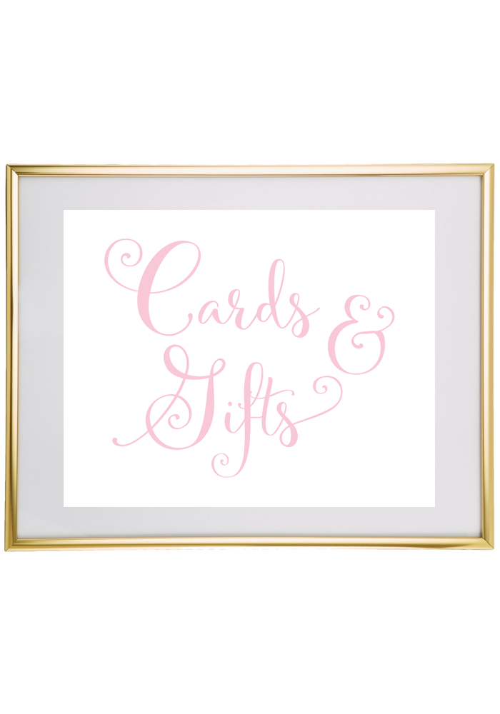 Cards And Gifts Wedding Sign Light Pink Cards Sign Wedding Printable Wedding Sign Printable Gifts Sign