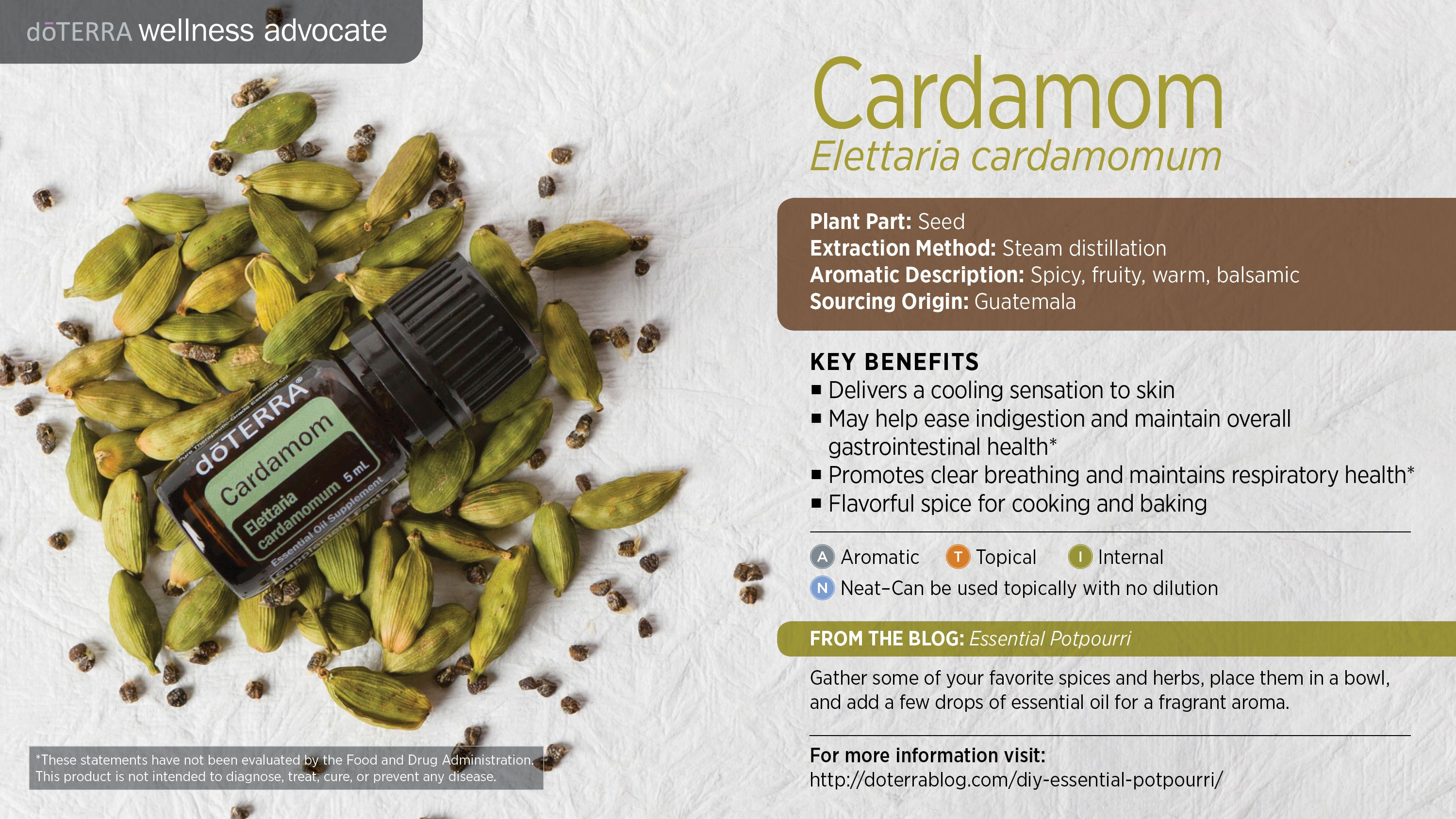 Dōterra S Cardamom Essential Oil Comes From Seeds Grown In