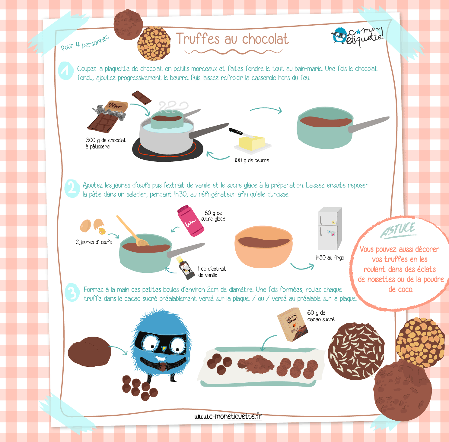 Truffes au chocolat I Recette C-MonEtiquette