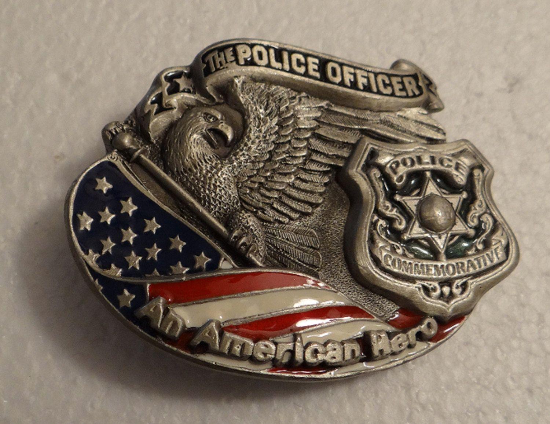 The Police Officer An American Hero Metal Belt Buckle