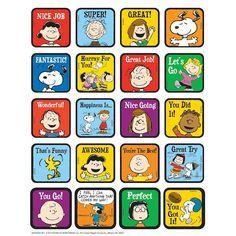 Eureka Peanuts® Motivational Theme Stickers, 12 Packs of 120
