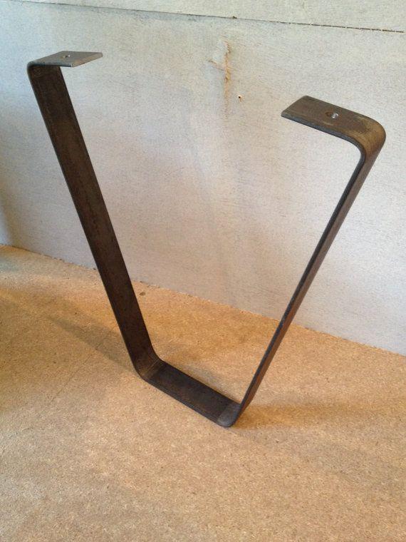 Industrial Style Steel Coffee Table Legs 12 By WoodenCactusHX
