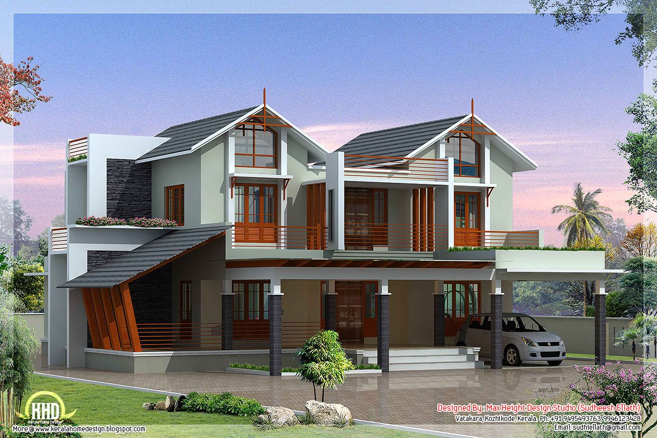 Unique home designer unique home design on unique villa for Unique cottage plans