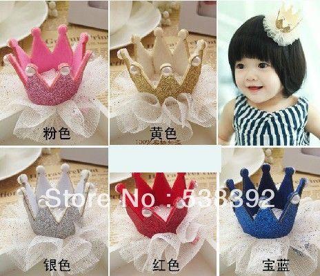 Kids Girls Crown Hair Clip Headwear Princess Hair Clip Headband Hair Accessories