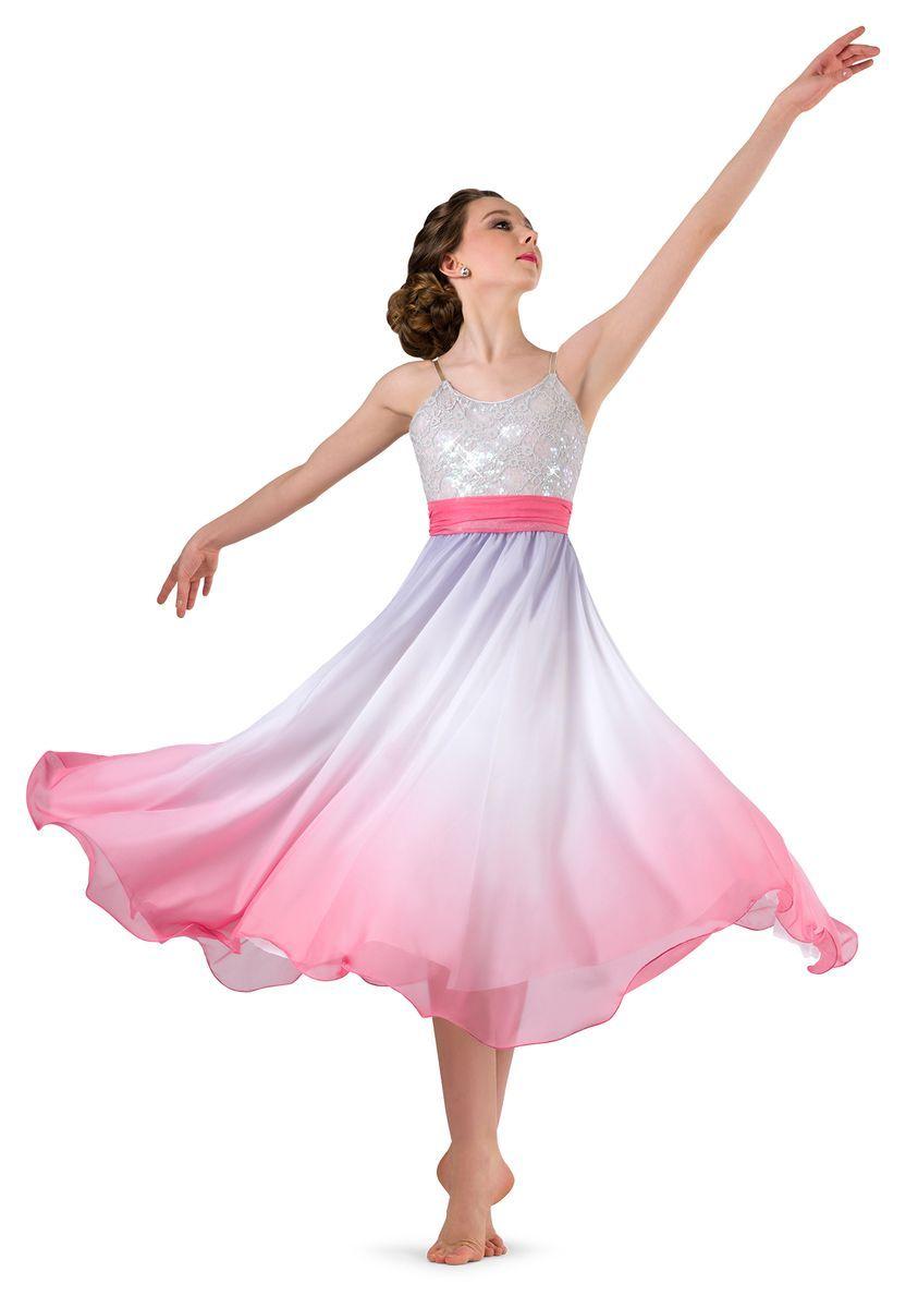 Ombre grey ballroom dance skirt