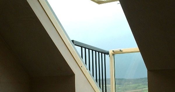The VELUX CABRIO balcony system fits snugly to the roof when closed, but when opened it becomes an instant balcony in seconds. A great way to add v… | Pinteres…
