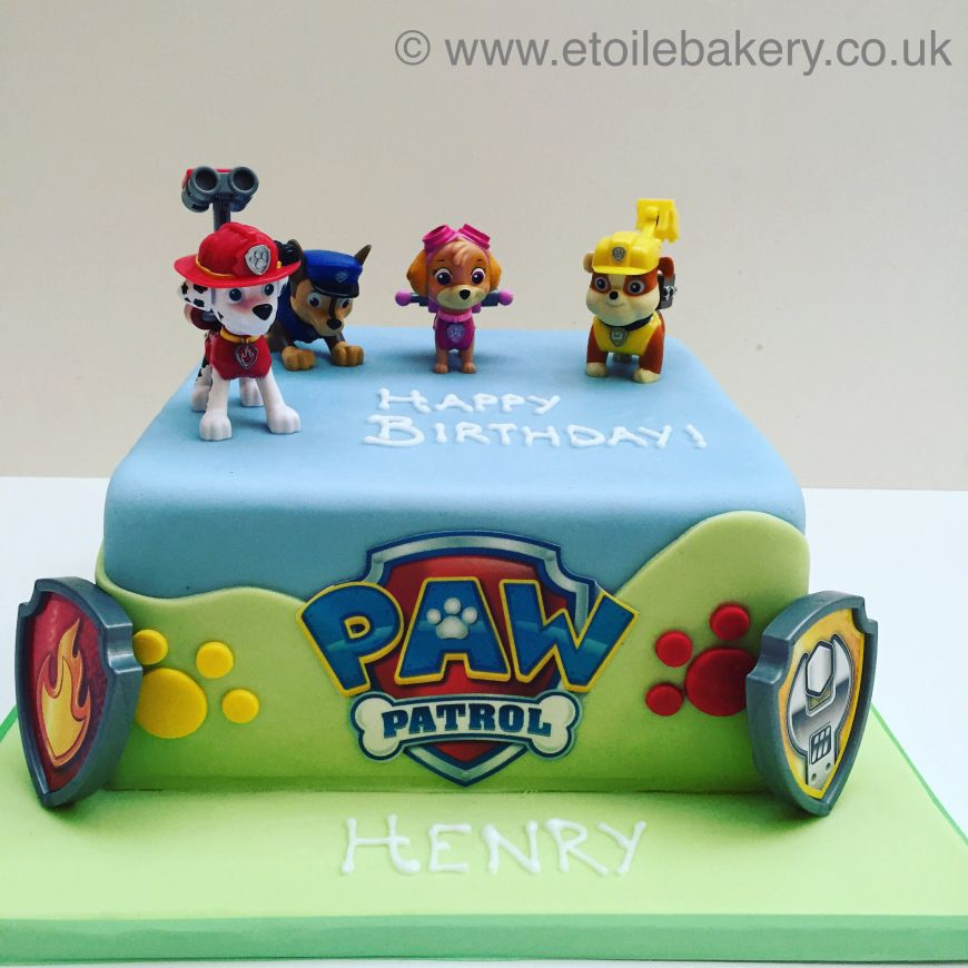 Paw patrol cake (With images) Paw patrol cake, Paw