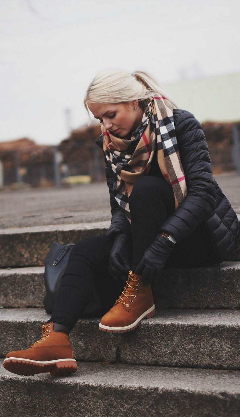 timberland boots damen klamotten styling