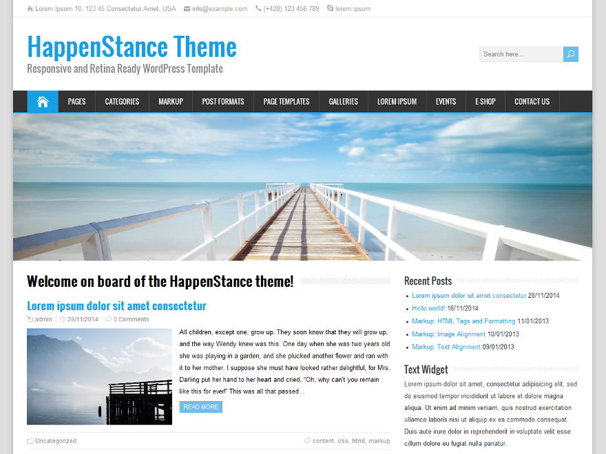 WordPress › HappenStance « Free WordPress Themes | web | Pinterest ...