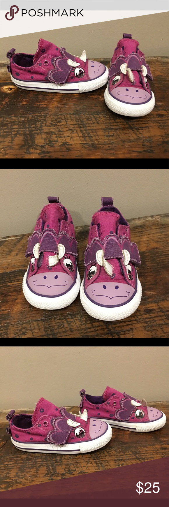 Converse Creatures Purple Rhino sz 7C Adorable purple rhino