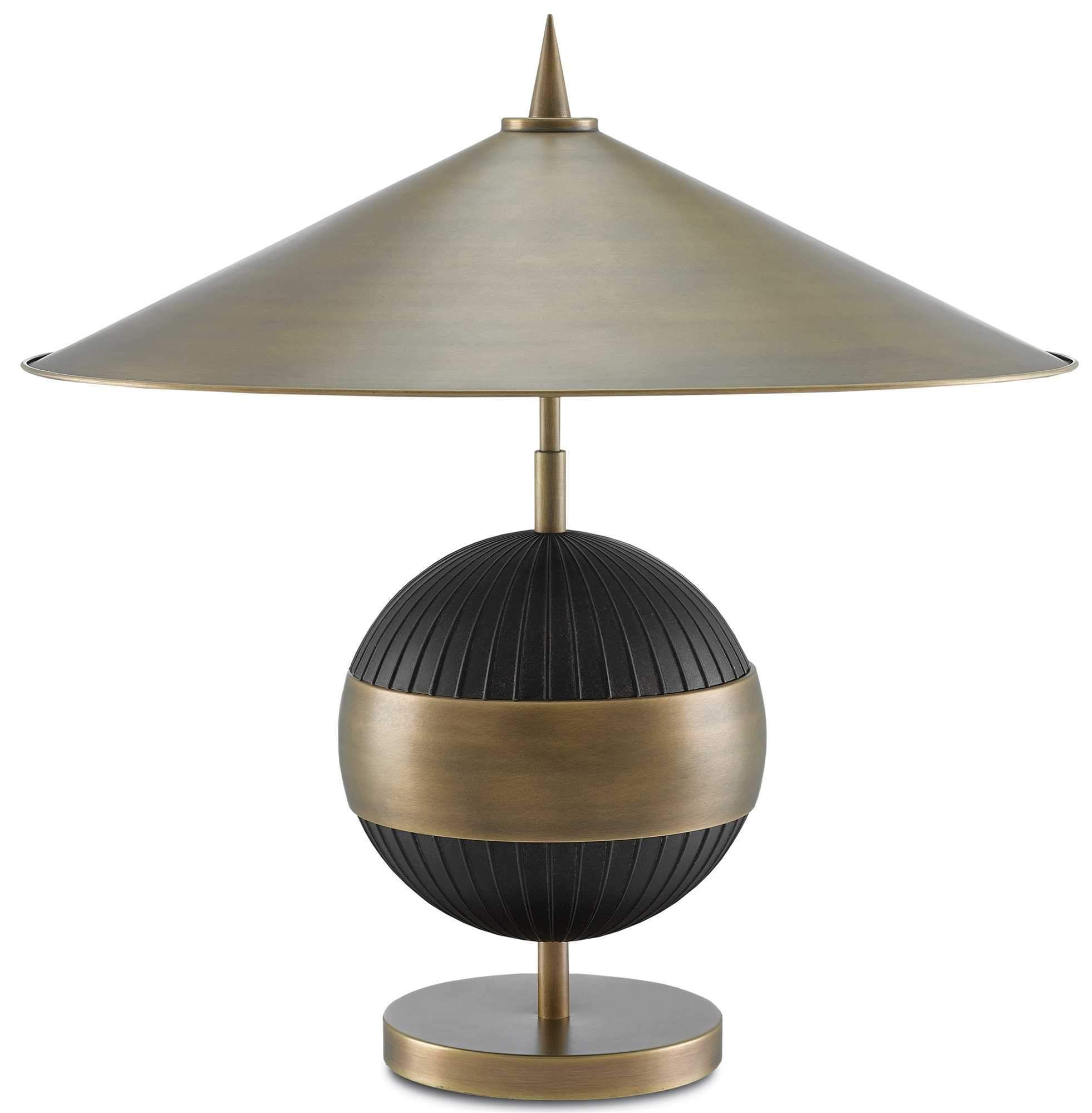 Currey And Company Chatta Table Lamp 6000 0168 Table Lamp Black Table Lamps Contemporary Table Lamps