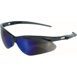 Jackson Safety 991014481 V30 Nemesis Safety Glasses - Black Frame, Blue Mirror Lens