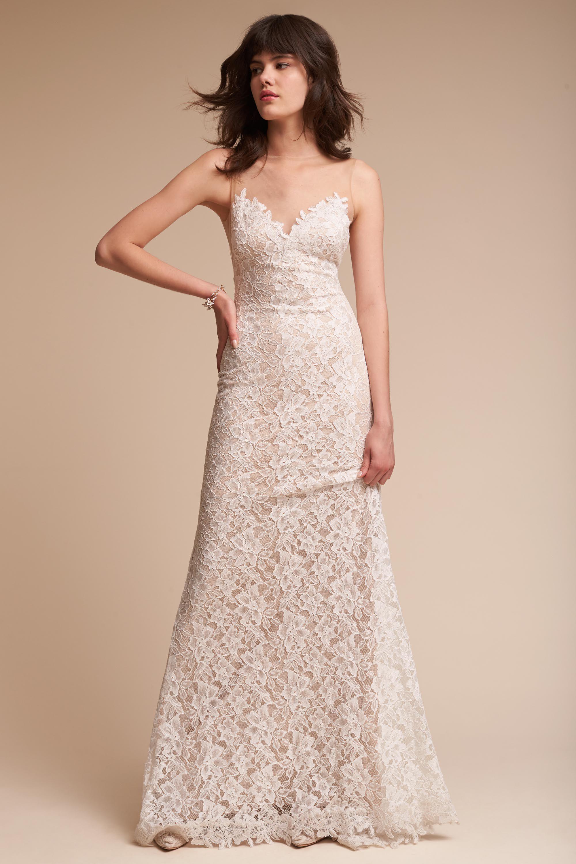 BHLDN\'s Tadashi Shoji Helios Gown in Ivory | ➳ Weddings Are All ...