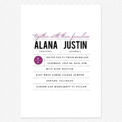 Clean and Classic Wedding Invitations