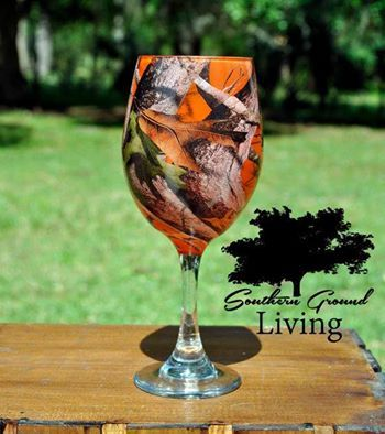Wow <3 A set of these orange camo wine glasses just made the birthday list!!!