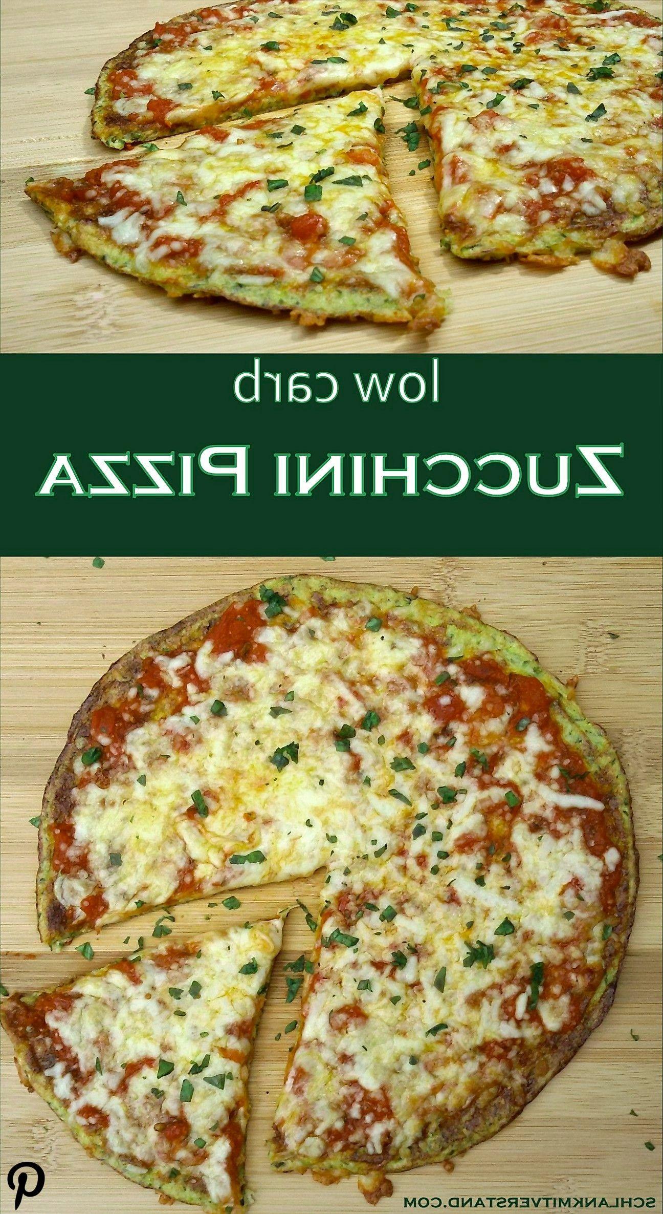 Zucchini Pizza low carb vegetarisch Zucchini Pizza low carb vegetarisch