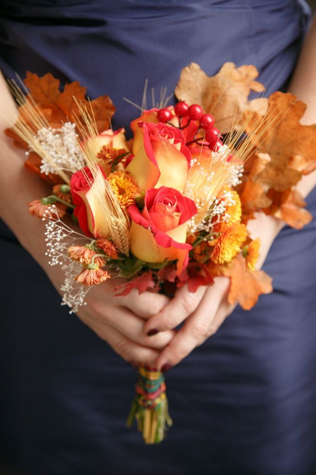 A Festively Creative Diy Fall Wedding Flower Ideas Pinterest And Bouquets