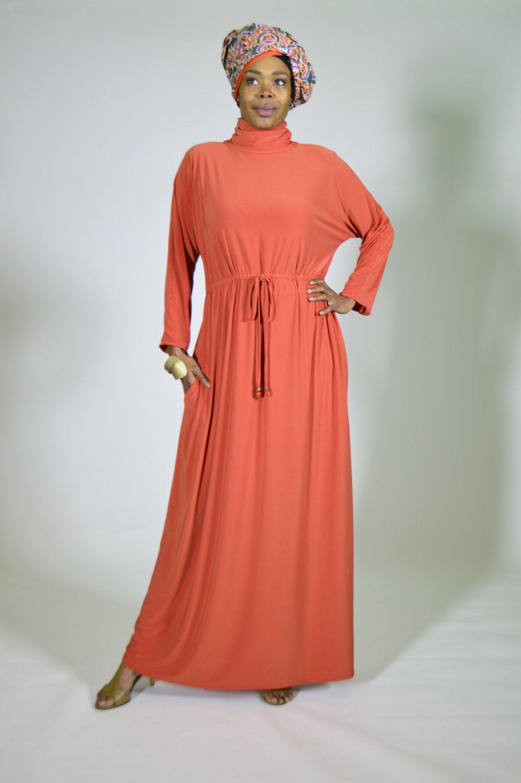 219631a715712 Turtleneck maxi dress//// dolman sleeves maxi dress by Siri2Siri on Etsy