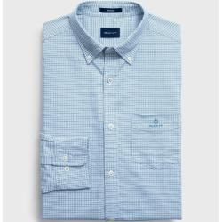 Gant Plaid Regular Oxford Shirt (Blue) GantGant