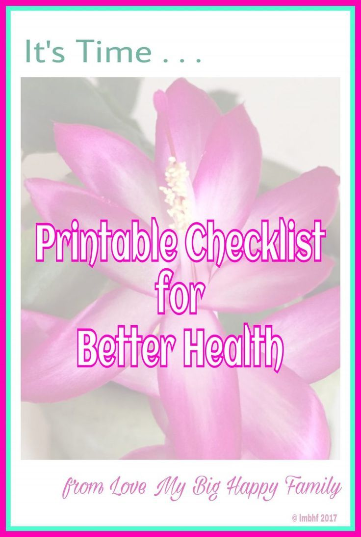 Healthy Lifestyle  Daily Checklist For A Healthier Lifestyle