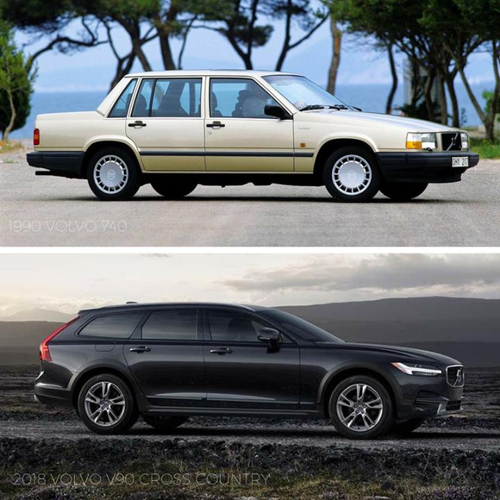 Tbt 1990 Volvo 740 Vs 2018 Volvo V90 Cross Country Volvo 740
