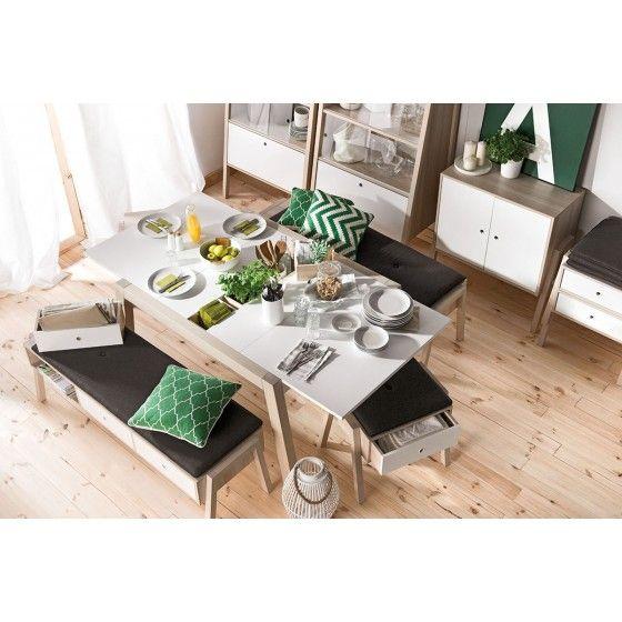 Table design extensible Helsinki ATYLIA