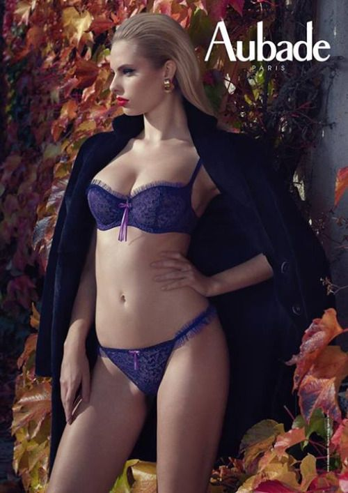 my friend Justine likes a bit of Aubade every now and then. can't say i blame her as this lingerie set is rather gorgeous. the photography makes the girl look rather fierce, but it's a striking image.