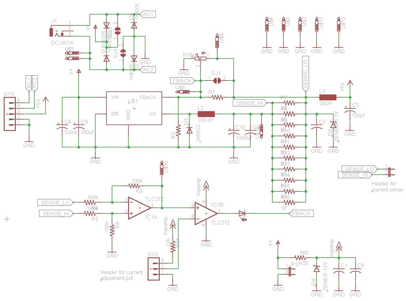 lm2576 constant current power supply symbols arduinolm2576 constant current power supply