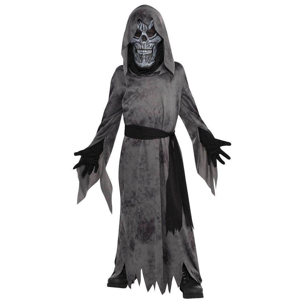 grim reaper costume kids scary death ghoul halloween fancy dress - Halloween Costume Death