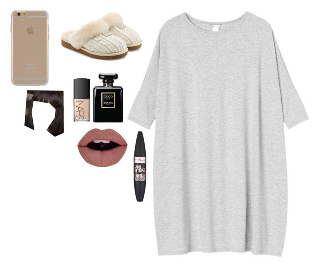 """""""Untitled #2055"""" by kyggi55 ❤ liked on Polyvore featuring Monki, UGG, Agent 18, NARS Cosmetics and Maybelline"""