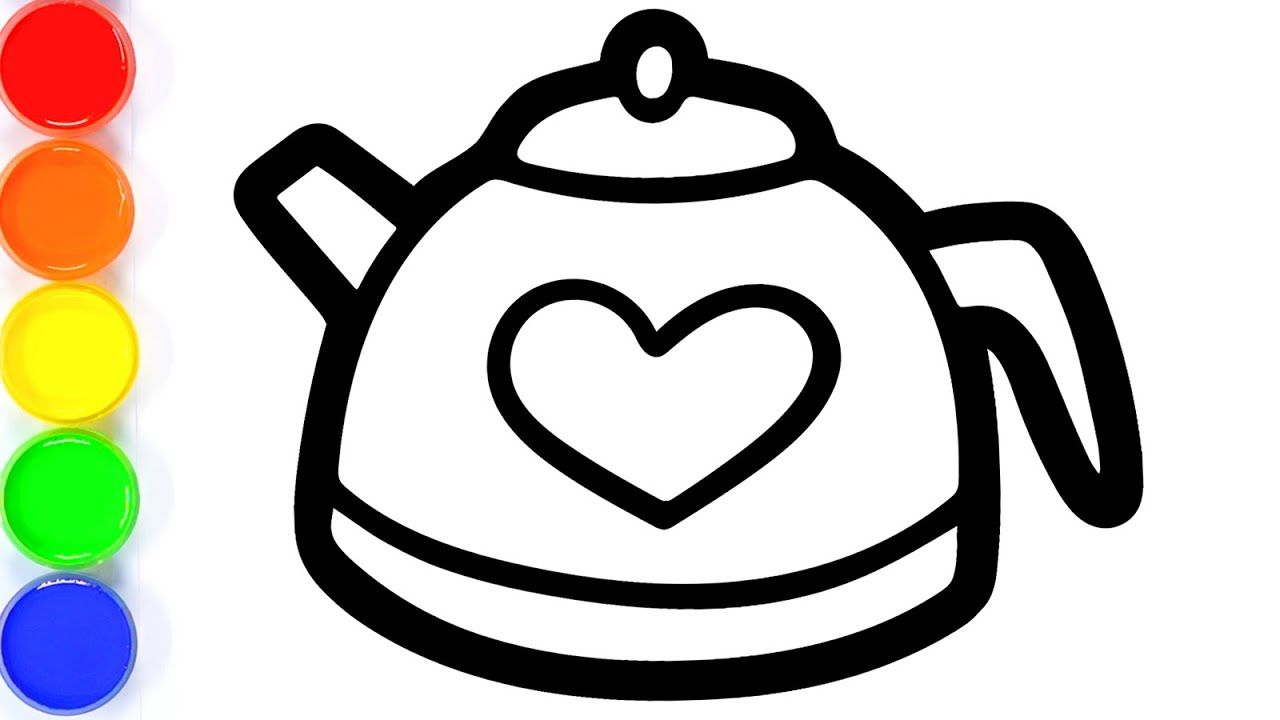 How To Draw Cooking Pot For Kids Kettle Coloring Page For Kids