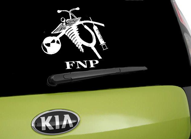 FNP Vinyl Car Decal Nurse Icons Car Window Sticker Car Decal - Vinyl car decals for windows