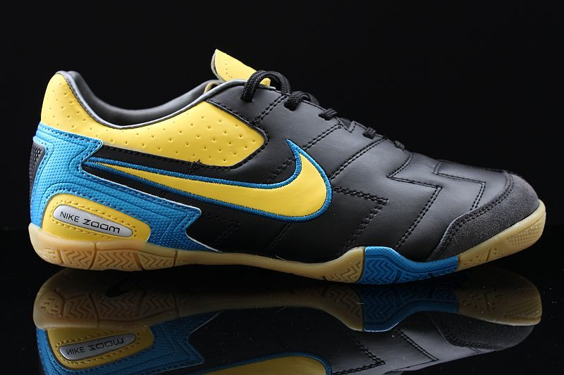 c7096f3e0 Nike5 Elastico Pro Black Yellow Blue Indoor Soccer Shoes