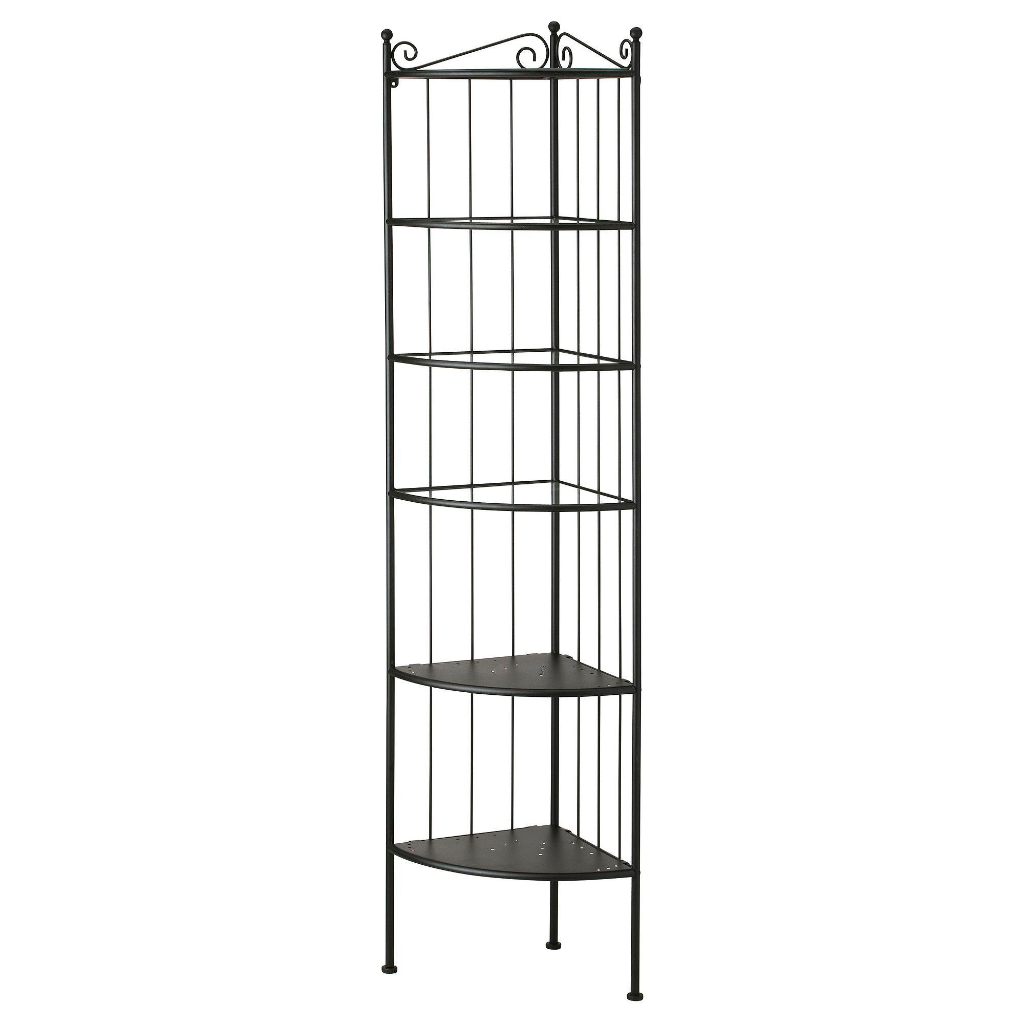 Ronnskar Corner Shelf Unit Black Badezimmer Eckregal Eckregal