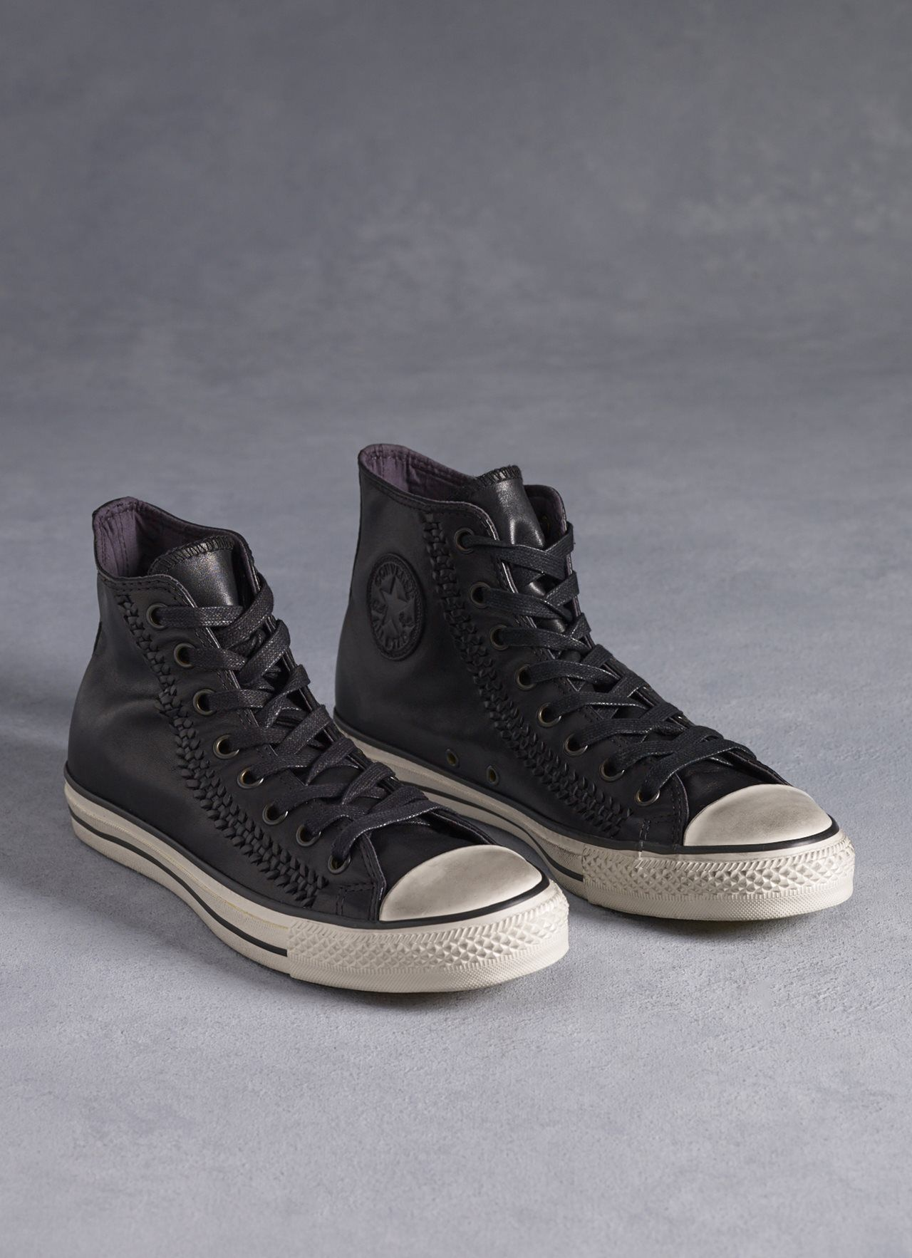 e24ebeaf574698 Converse X John Varvatos  The handmade quality of our woven leather  construction makes this Chuck Taylor All Star one-of-a-kind interpretation  of a true ...