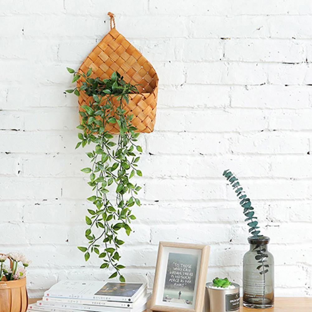 Hanging Wicker Flower Wall Basket