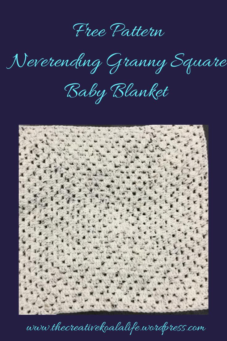 Free Pattern Baby Blanket Never Ending Granny Square Granny Square Baby Blanket Baby Blanket Crochet