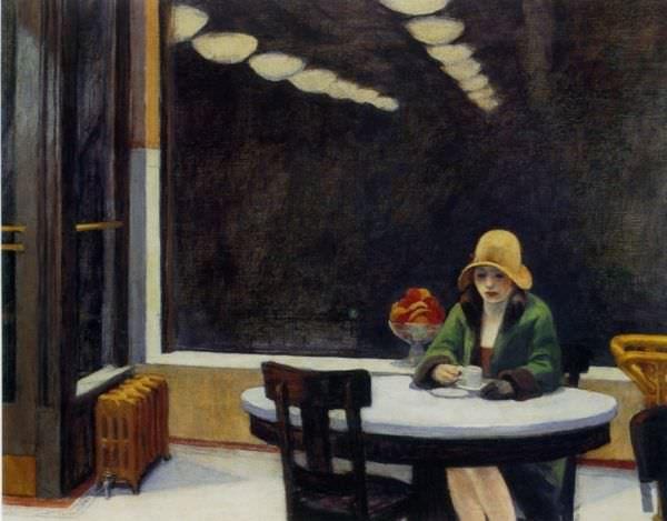 Reproduction de Hopper, Automate (Automat) Tableau peint à la main