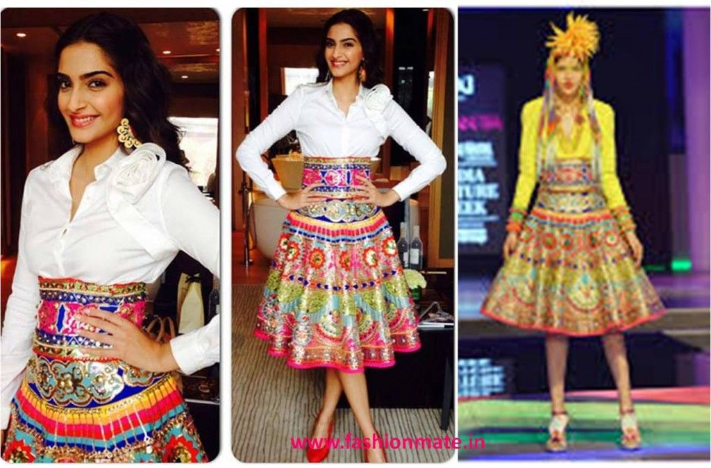 Image result for sonam kapoor @ khoobsurat promotion